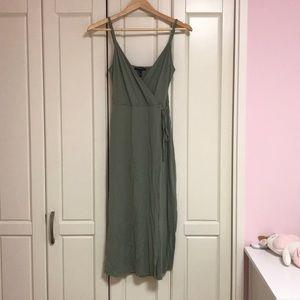 Midi, tank top, wrap style dress